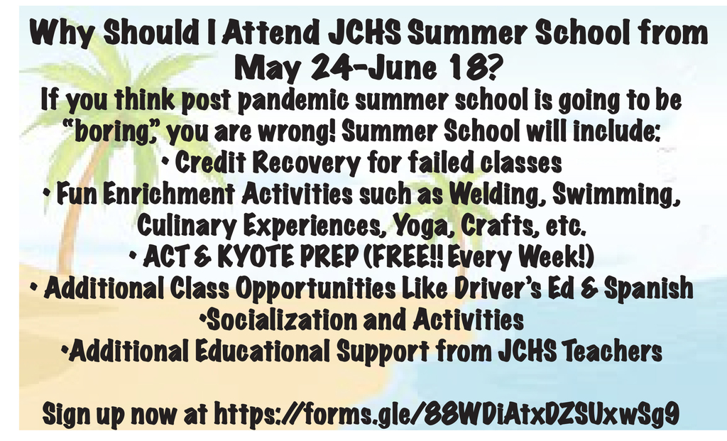 Sign Up For Summer School Now!