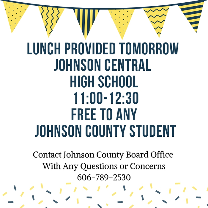 Free Lunch NTI Johnson County Students