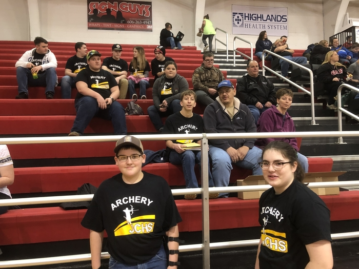 Johnson Central Golden Archers ready to compete at regionals.