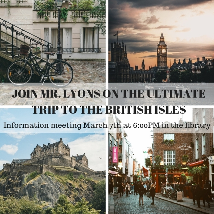 Mr. Lyons' UK Tour 2020