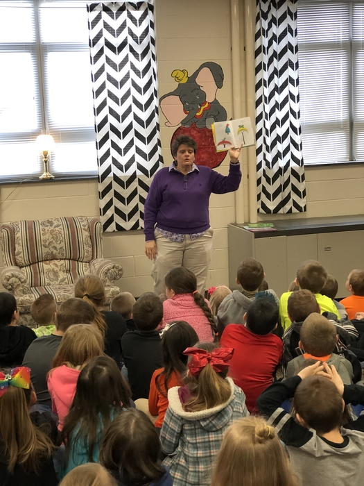 Robin Salyer's reading for Read Across America week!