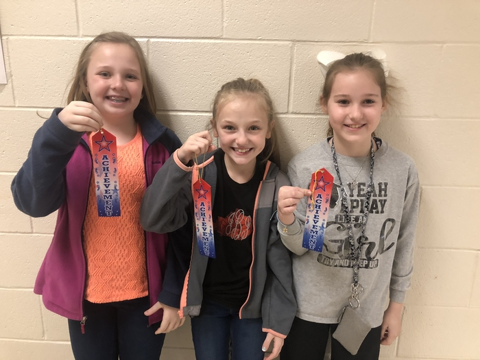 2nd Place Emma Ferguson, Jaylin Blanton, and Paislee Sagraves