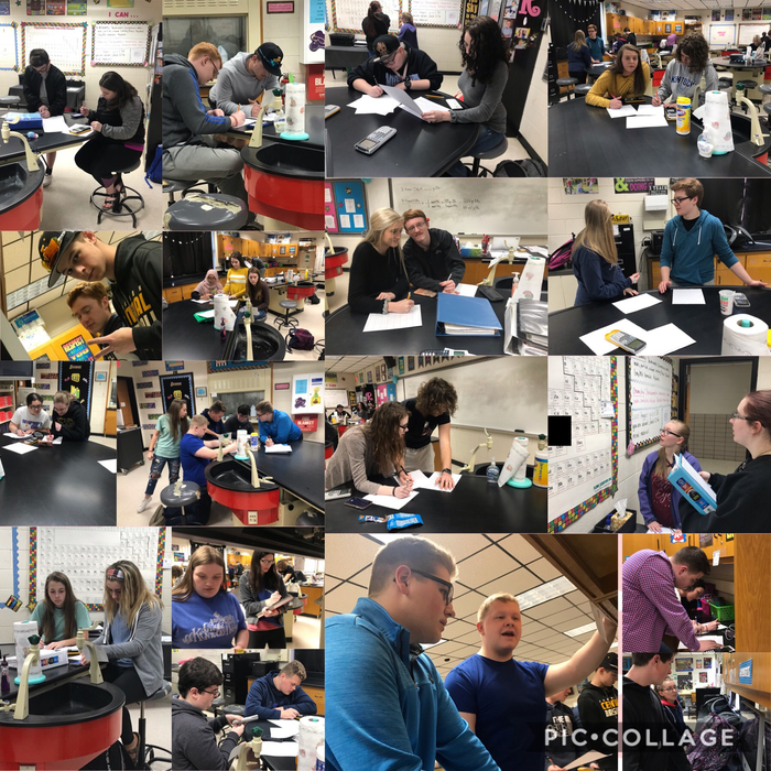 Pre-AP Chemistry students spent class using stations and QR codes to review Stoichiometry 👩‍⚕️👨‍⚕️🧪📓