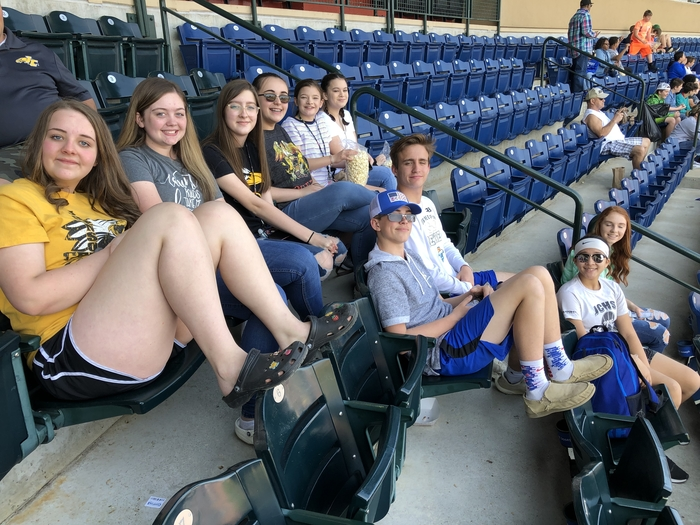 Group ready to watch baseball!