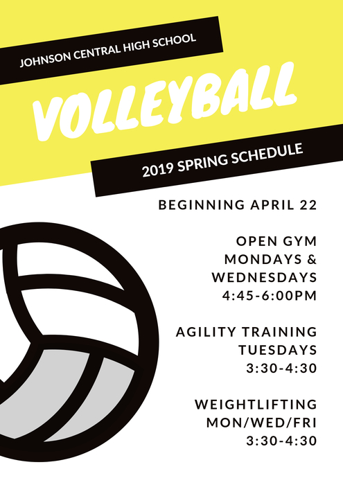 2019 Training Schedule