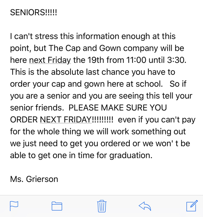 Urgent Senior Message