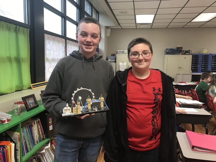 Austin and Bryson created London from legos
