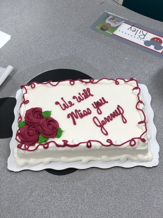 Ms Jenny's retirement cake!