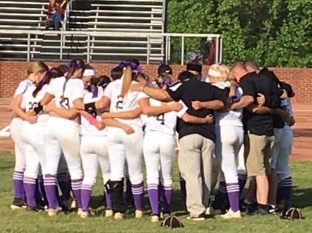 JCHS Softball - Team wears purple socks and bows in support of their team mate Lindsay Stambaugh who has Cystic Fibrosis. May is Cystic Fibrosis Awareness Month!