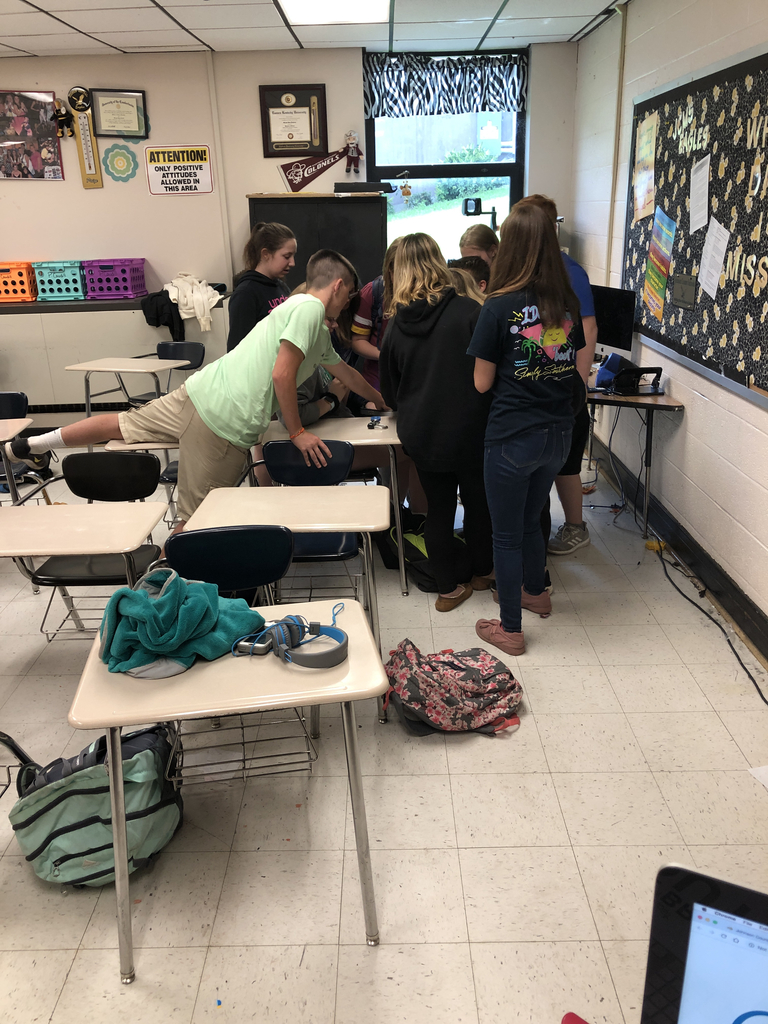 They're solving the breakout box!