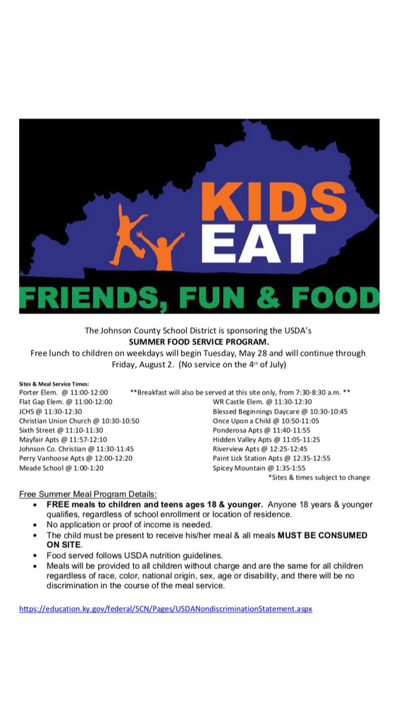 Summer Food Service Flyer