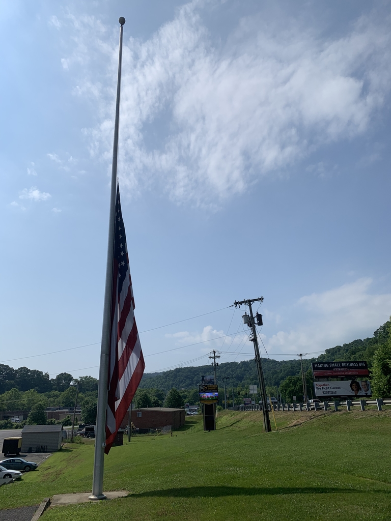 JCBOE Flag at half staff