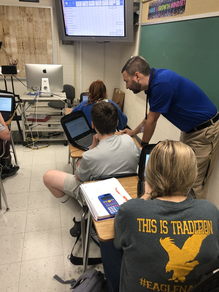 Unit rates using Desmos in Mr. Bolden's math class.