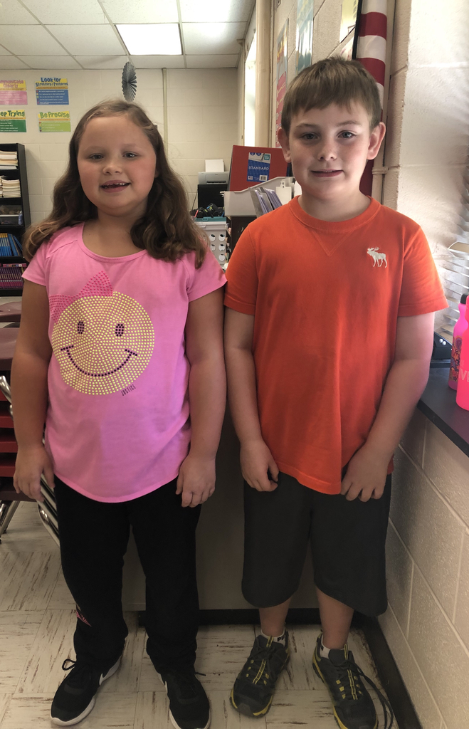 Congratulations to our 3rd Grade Apple Day math winner Gavin Grim and Runner-Up Marlee Fannin.