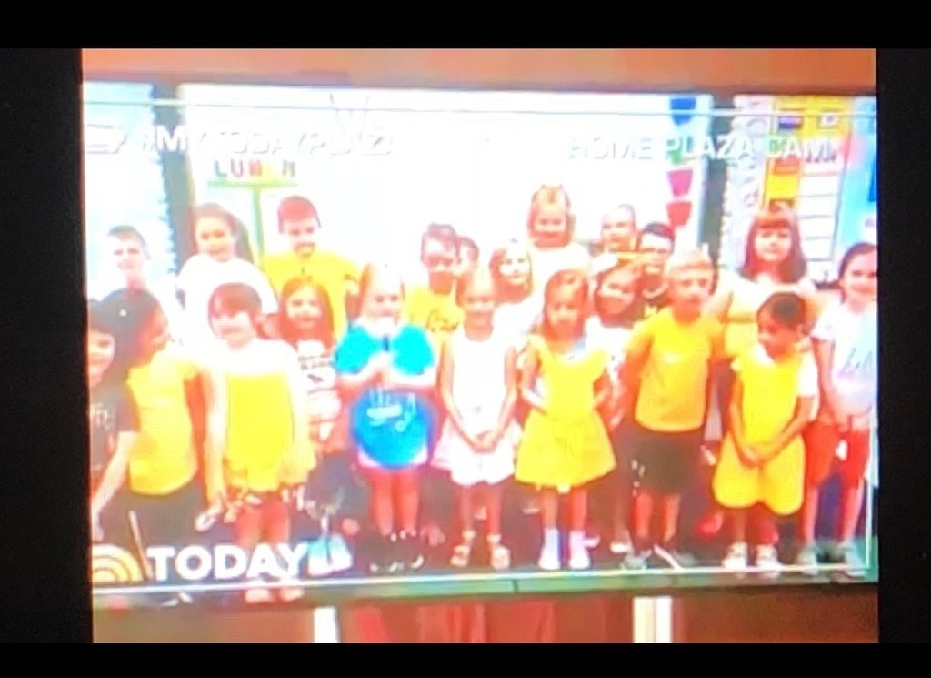 Mrs. Bowling's Class on the Today Show!!