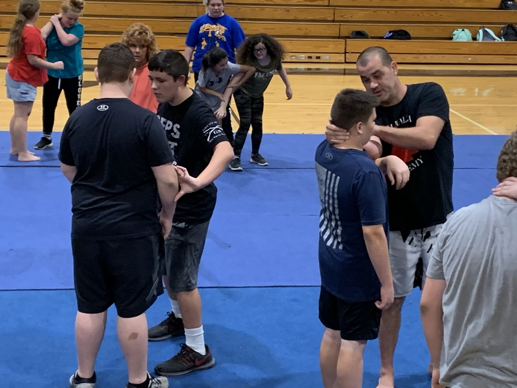 Mr. Josh Stepp of East KY Combat instructs Life Skills classes on self defense techniques.