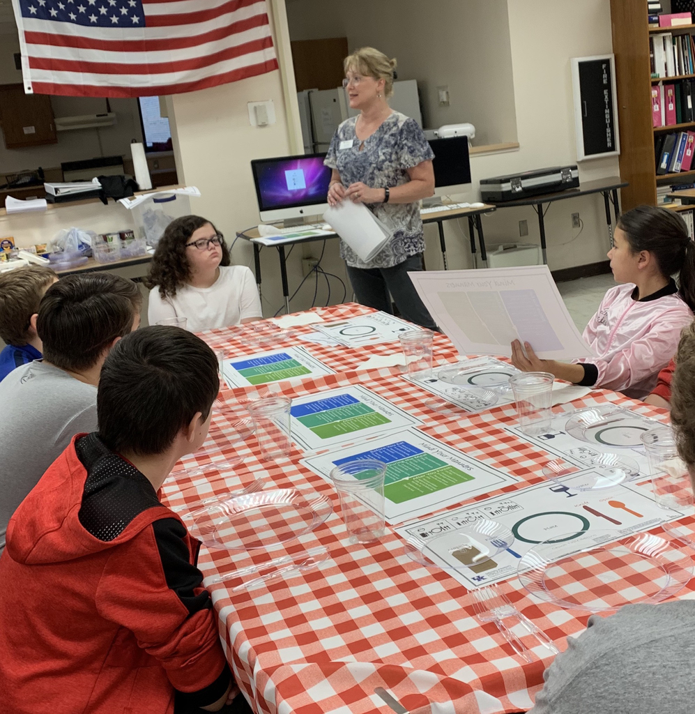 Thank you Ms. Dianne Reed for demonstrating table setting and table etiquette to our Life Skills classes!
