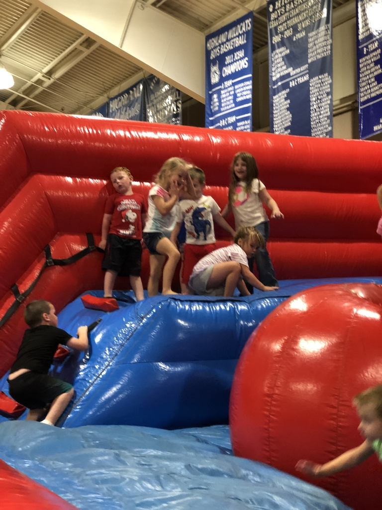 Enjoying the inflatables!