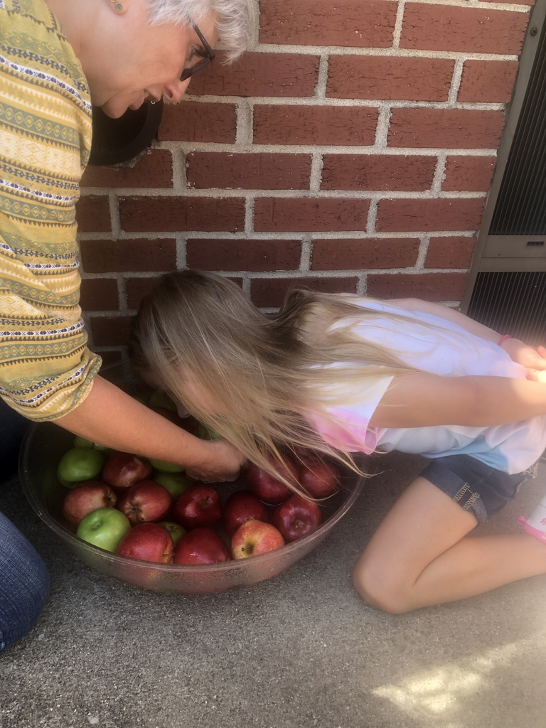 Emily bobbing for apples!