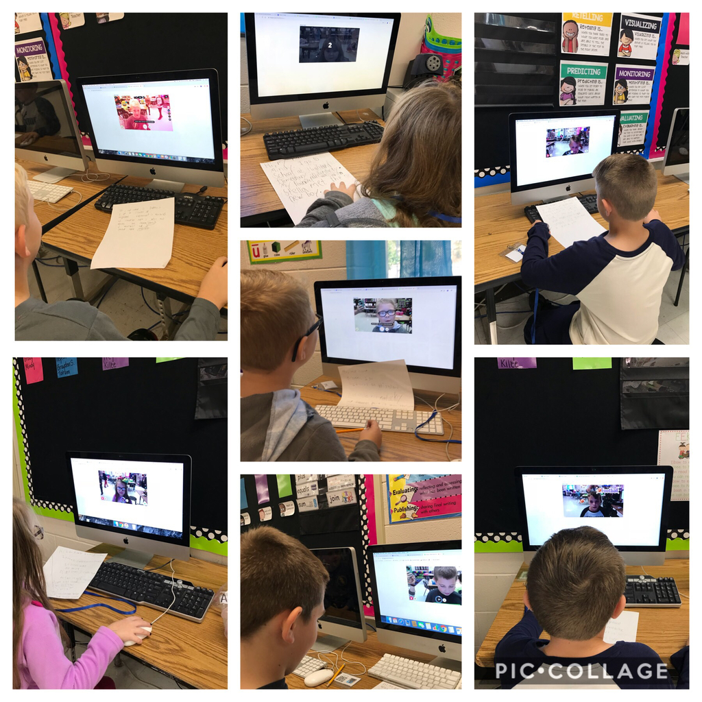 2nd graders using Flipgrid