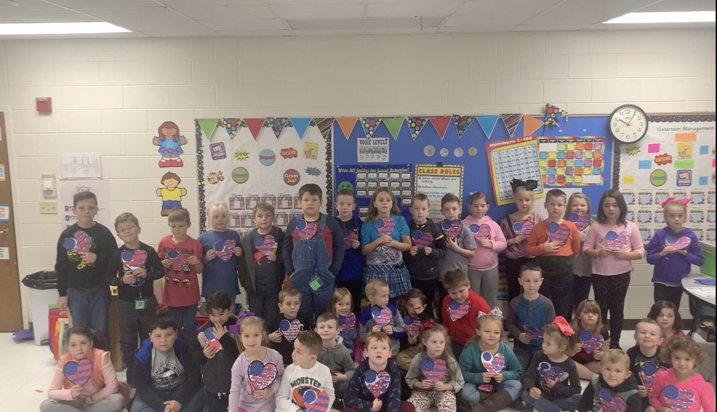 Happy Veterans Day from Mrs. May's and Mrs. Ousley's Classrooms!