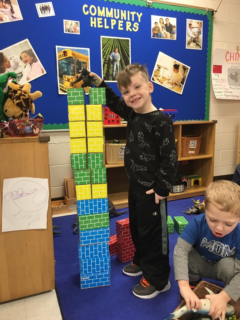 Luca built the Empire State Building so that King Kong can climb and rest on!  Learning about building strength!