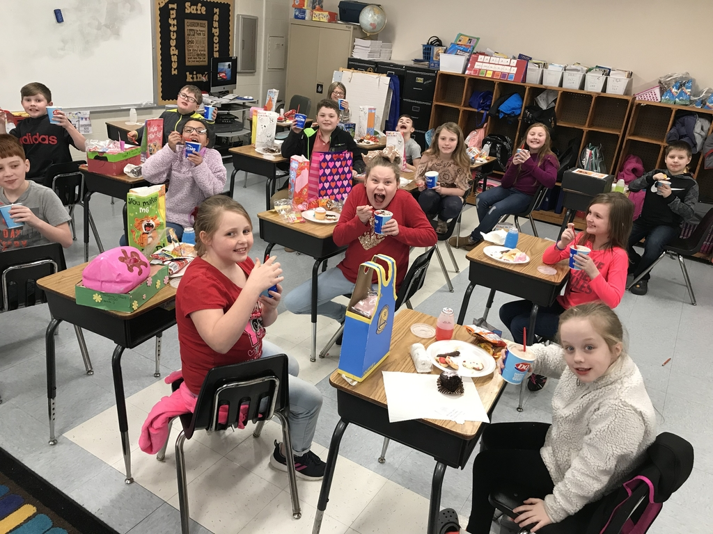 Mrs. Holbrook's class enjoyed DQ Blizzards for 50 days of perfect attendance!