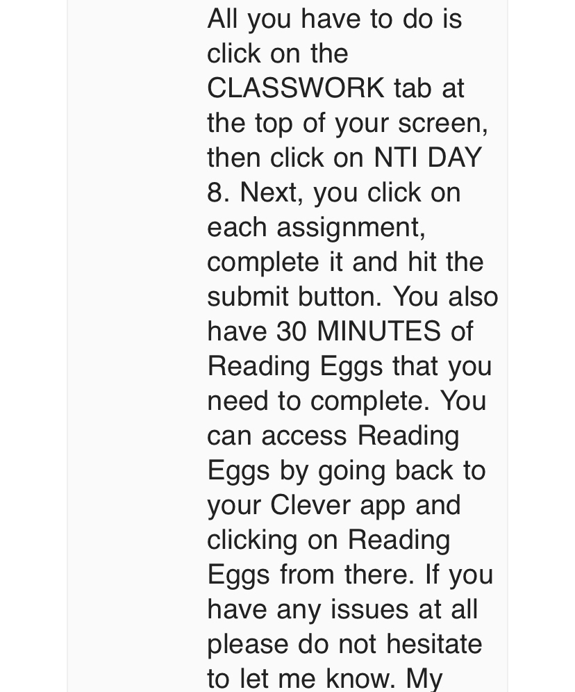 Reading Eggs and Google Classroom